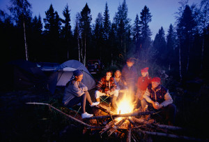 A Campfire in the Rocky Mountains