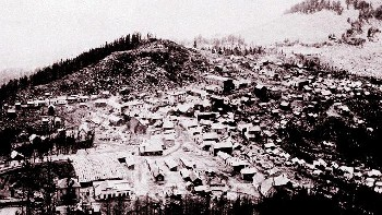 The city of Granite in its busy years, 1890, courtesy of the Philipsburg Mail.