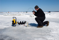 Ice Fishing is also popular on Georgetown Lake near Philipsburg, Montana.