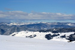 A view from the mountains near Granite, Montana.