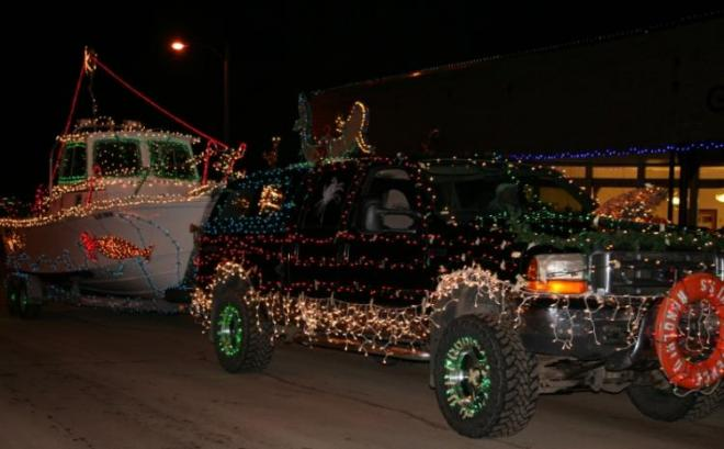 Lighted Parade in Philipsburg