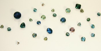 Cut Montana Sapphires in varying colors