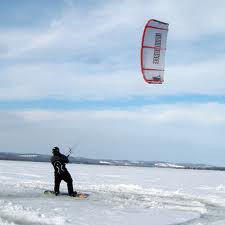 Kiteboarding on Georgetown Lake